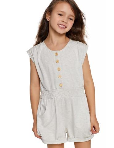 White Little Girls Cassie Romper