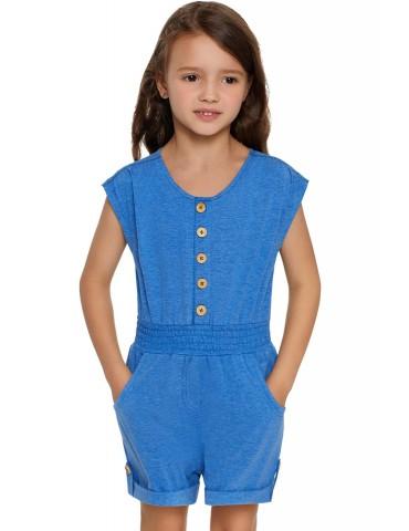 Sky Blue Little Girls Cassie Romper