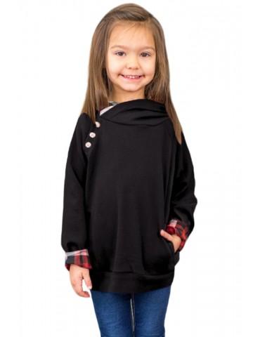 Black Toddlers Double Hooded Sweatshirt