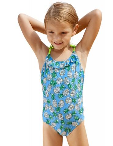 Pineapple Print Little Girls One-piece Swimsuit