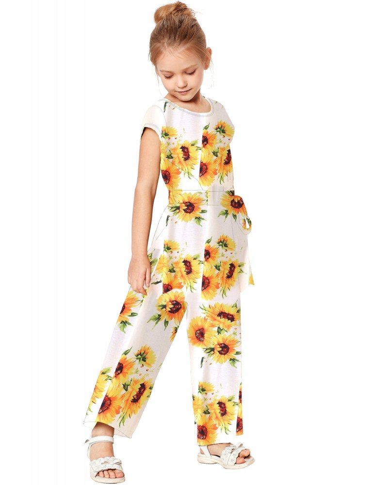 White Sunflower Jumpsuit